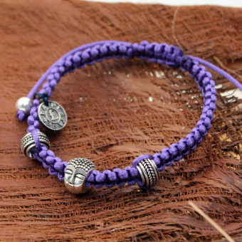 La Plata Armband Buddha Violett 180 mm