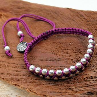 La Plata Armband Silverballs Violett 180 mm