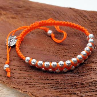 La Plata Armband Silverballs Orange 180 mm