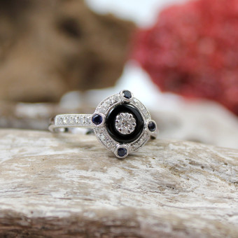 Brillant - Saphir - Ring 750er WG