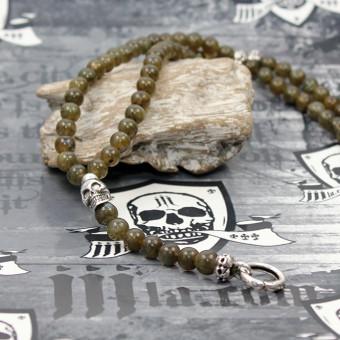 "JJJ LA Labradorit Triangle Halskette ""Camo/Skull"""