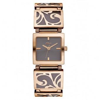 S.Oliver Damen Armbanduhr Keramik PVD Roségold SO-2923-MQ