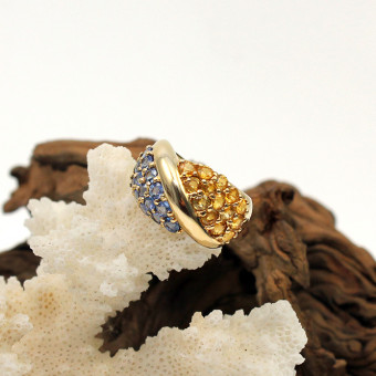 Creation Wenz - Handarbeit - Gelbgold Saphir Ring