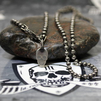 "JJJ LA Kugelkette ""Black"" aus 925er Silber geschwärzt 600 mm"