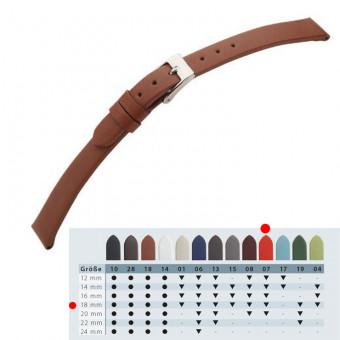 CEM Echt Leder Uhrenband Alaska 18 mm rot