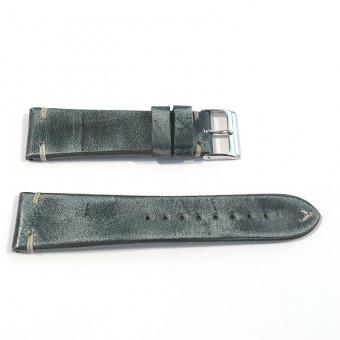 Herzog Uhrenarmband Vintage-Passion 22/20mm Vintage Jeansblue