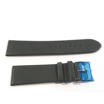 """Herzog Uhrenarmband Leder """"Design"""" grau 22 mm Bandanstoß"""