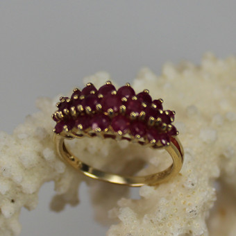Rubin Ring 585 Gelbgold