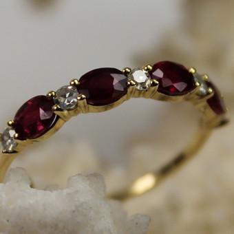 Rubin Diamant Ring 750 Gelbgold