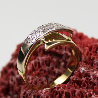 Diamant Ring 750 Gelbgold