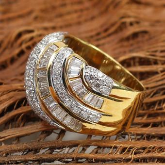 Diamant Ring 750 Gelbgold 2,30 ct