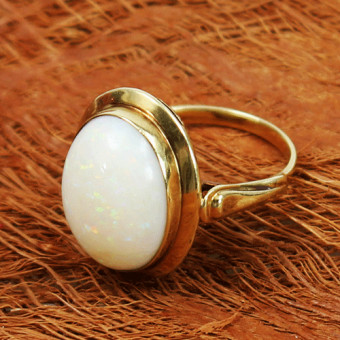 Opal Ring 585 Gelbgold