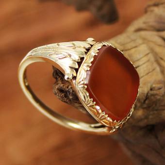 Siegel Ring 585 Gelbgold mit Karneol