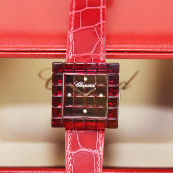 "Chopard Damenuhr ""BE MAD"" Diamanten Limitierte Auflage"