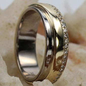 Brillant Ring 585 Gelb-/Weißgold