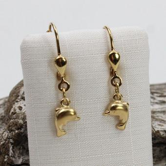 Kinder Ohrringe Delfine 333 Gelbgold