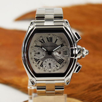 Herrenuhr CARTIER ROADSTER Stahl