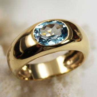 Topas Ring 585 Gelbgold