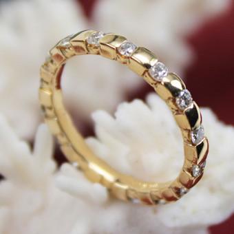 Brillant Memory Ring 750 Gelbgold
