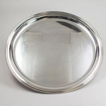 Wilkens Silber Tablett 800er Silber 27 cm