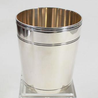 Jezler Silber Becher Riefen 1,7 dl , 800er Silber
