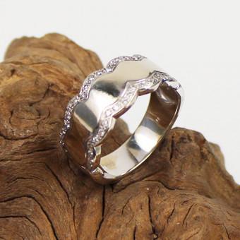 Diamant Ring 585 Weißgold