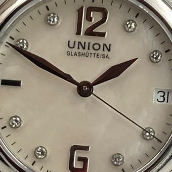 Union Glashütte Lady Perlmut Zifferblatt mit Dia.