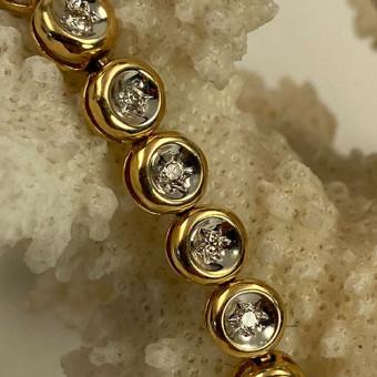 Brillant Armband 585 Gelb-/Weißgold