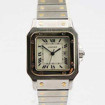 Santos de Cartier  Automatic Herrenuhr Stahl/Gelbgold