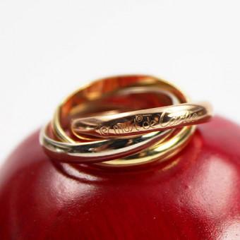 Cartier les must de Cartier Trinity Ring 750 Rosé Weiss Gelb Gold 18 Karat