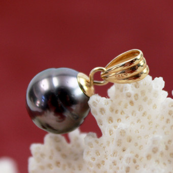 Tahiti-Perlen Anhänger 585 Gelbgold-Fassung