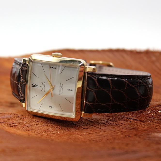 """Anker """"Nivaflex"""" Vintage Herren Armbanduhr Handaufzug 585er Gelbgold"""