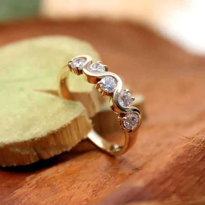 Gelbgold - Ring mit Zirkonia 585er