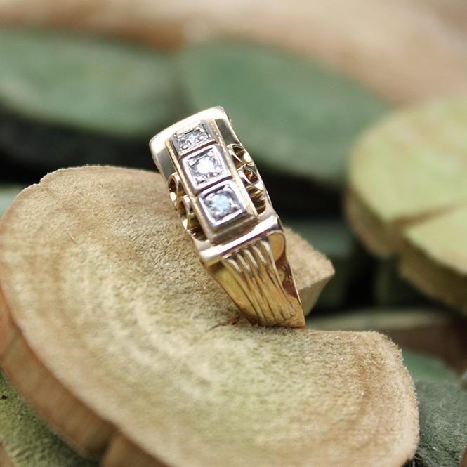 Antik Diamant Ring 585er