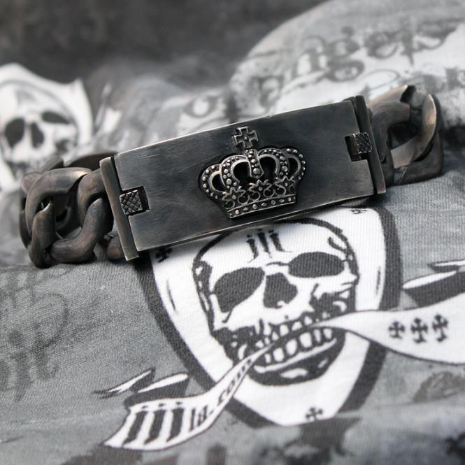 "JJJ La Panzer Armband ""CROWN""  in 925er Sterlingsilber"