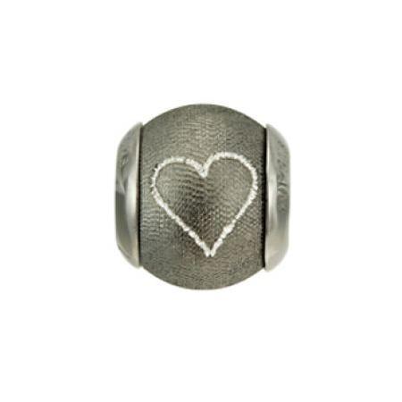 Lovelinks Bead Sparkling Black Heart 2180014