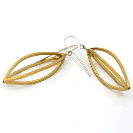 Ohrhänger Handarbeit Silber vergoldet