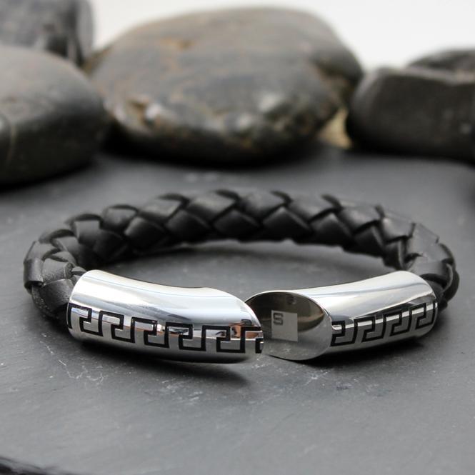 Street MOOV Armband Leder/ Stahl 316L / B187AC4