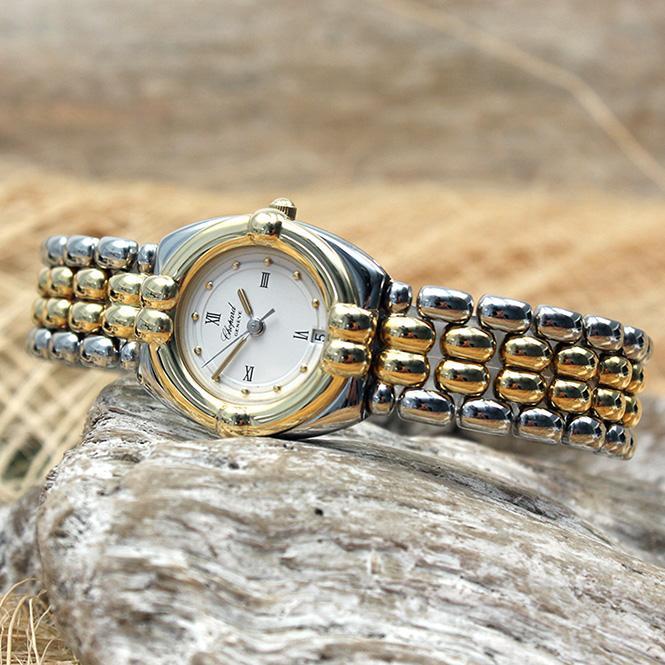 Chopard Gstaad Stahl/ Gold Damen Armbanduhr Quarz Ref. 8112