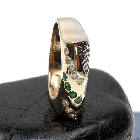 Ring mit Smaragd und Diamant 585er