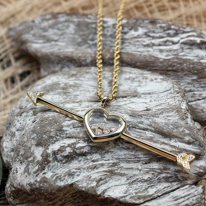 Chopard Happy Diamond Collier mit Herzanhänger