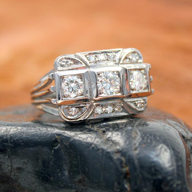 Antiker Diamantring 585er