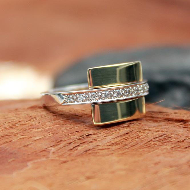 Brillant Ring 585er circa 0,15Ct