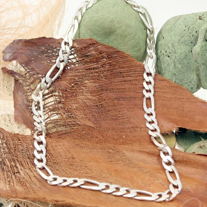 Herren Figarokette 925er Sterling Silber