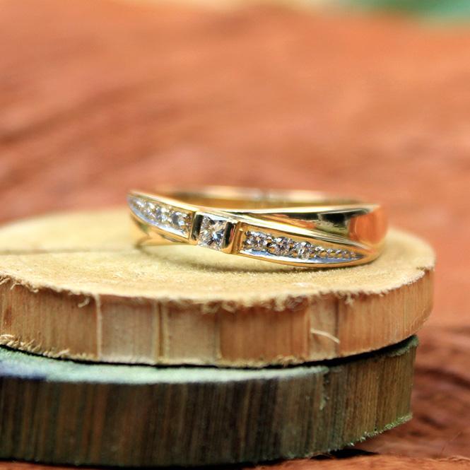 Diamant Bandring 750er GG