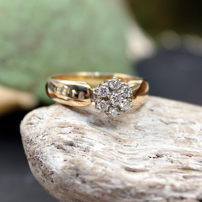 Diamant Ring 585er Gelb-/ Weißgold