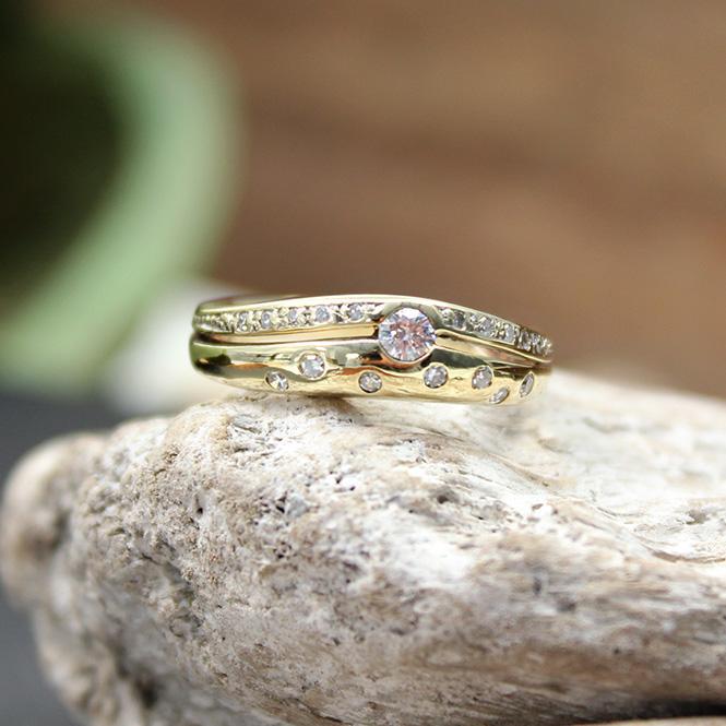 Diamant Bandring Gelbgold 585er