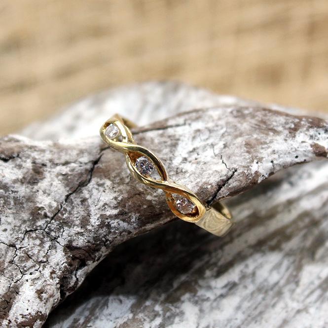 Gelbgold Diamant Ring 750er