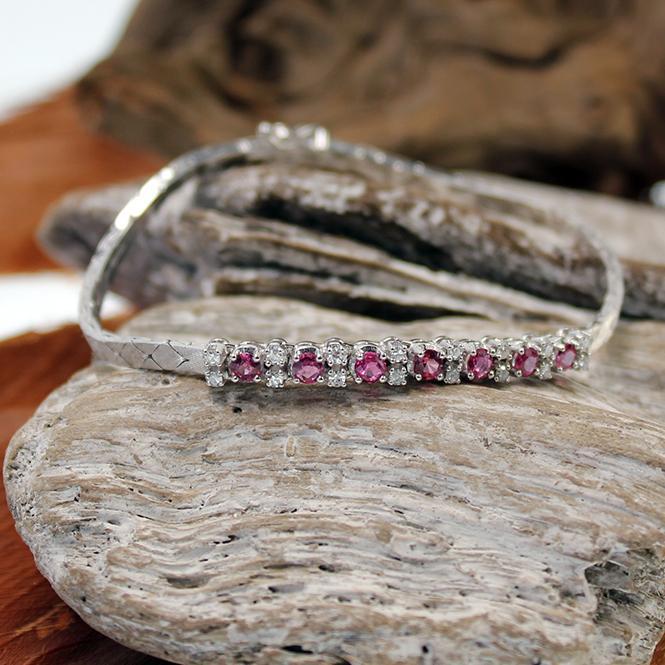 Diamant Rubin Armband Weißgold 585er
