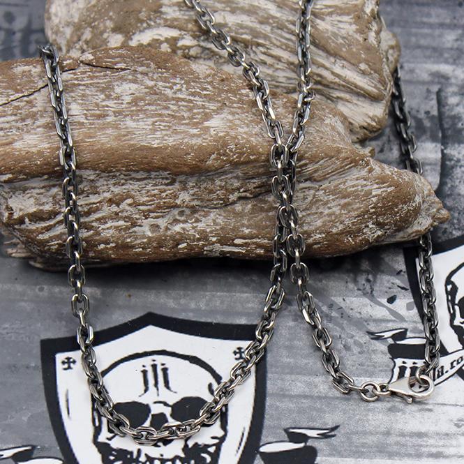 JJJ LA Ankerkette 925er Silber geschwärzt / Karabiner Verschluss